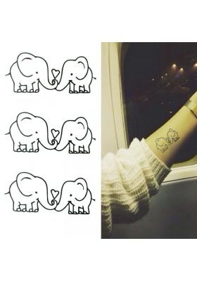 Tatouages éphémères Éléphants