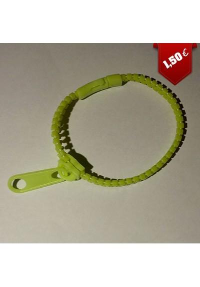 """Bracelet """"Fermeture Eclair"""" (ZIP) (Différents coloris)"""