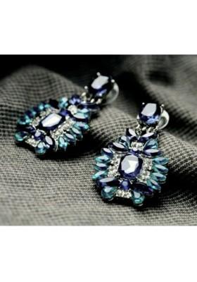 """Boucles d'oreilles """"Diamants"""" Bleus"""