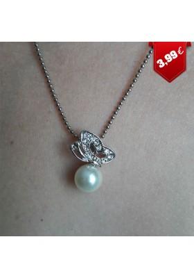 Collier Papillon et Perle