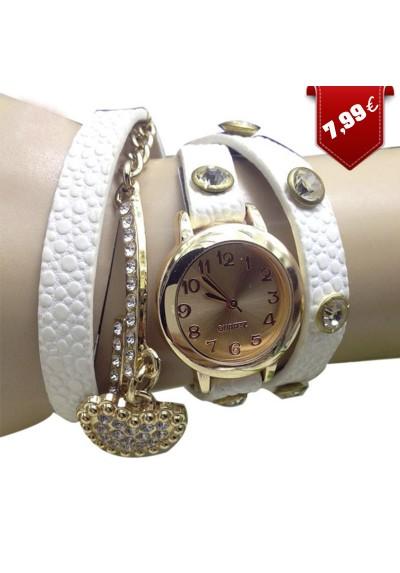 Montre Bracelet avec Coeur en Strass