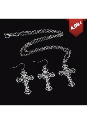 Parure Bijoux Jesus Christ Croix Chrétien