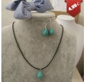 Parure Bijoux Fantaisie Bleu Turquoise