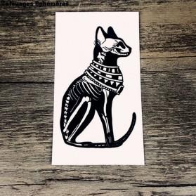 Tatouage Ephémère Chat Squelette