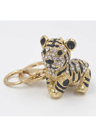 Porte-Clés Tigre Strass