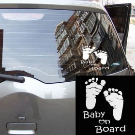 Sticker Auto Baby On Board Pieds