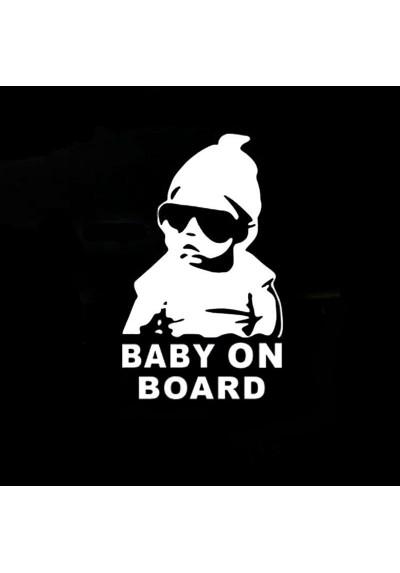 Sticker Auto Baby On Board (Bébé à Bord)