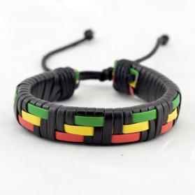 Bracelet Brésilien Rasta Vert Jaune Rouge