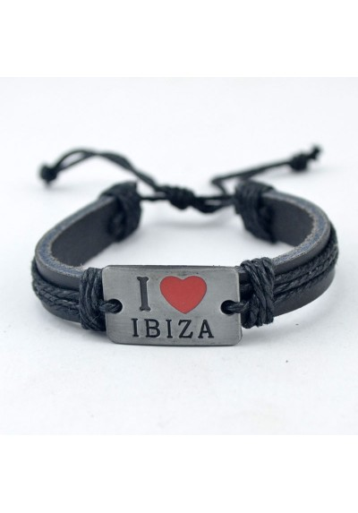 Bracelet Cuir I Love Ibiza