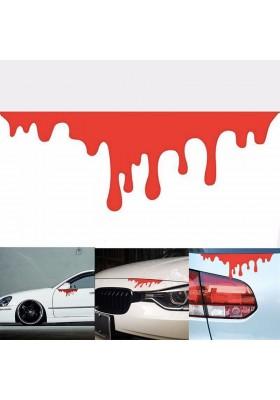 Sticker Auto Coulée de Sang
