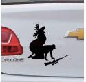 Sticker Auto Chasseur Chassé