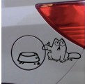 Sticker Auto Le Chat de Simon Réservoir