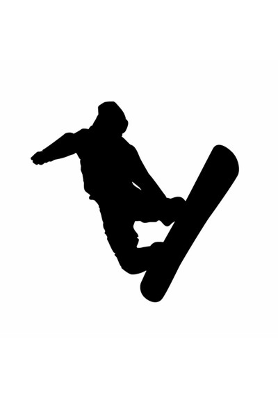 Sticker Auto Figure de SnowBoard