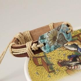 Bracelet Cuir Papillon Femme