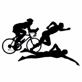 Sticker Auto Triathlon Sportifs