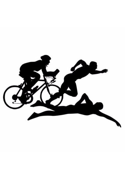 Sticker Auto Triathlon Sportifs