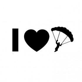Sticker Auto I Love Parachutisme