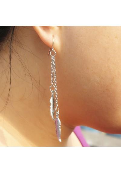 Boucles d'oreilles Longues Feuilles