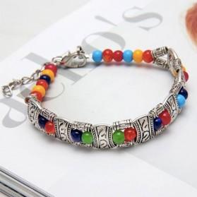 Bracelet Tibétain Argent Femme