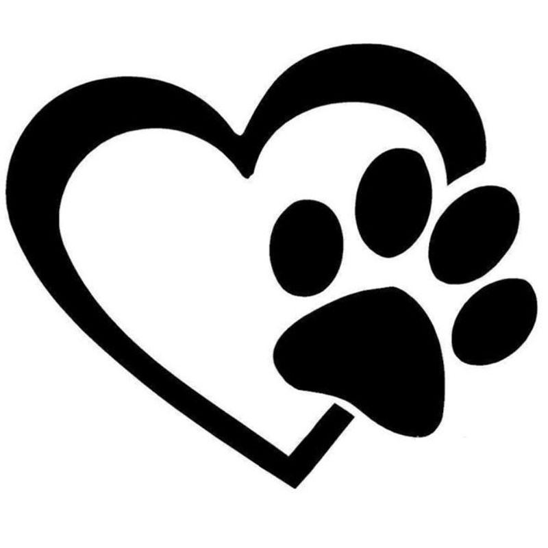 Sticker auto coeur patte de chien pas cher - Image patte de chien gratuite ...