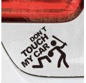 "Stickers Voiture ""Don't Touch My Car"""