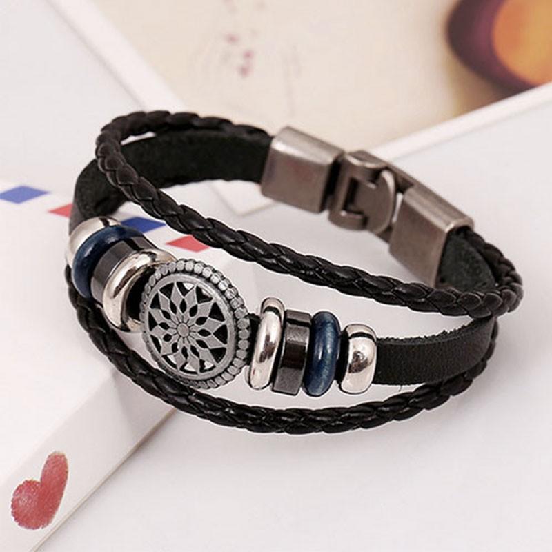bracelet mixte cuir homme femme pas cher. Black Bedroom Furniture Sets. Home Design Ideas