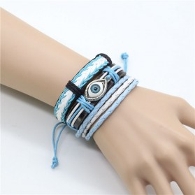 Bracelet Noeud Coulissant Turquoise Homme Femme
