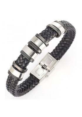 Bracelet Homme Noir Tendance Fashion