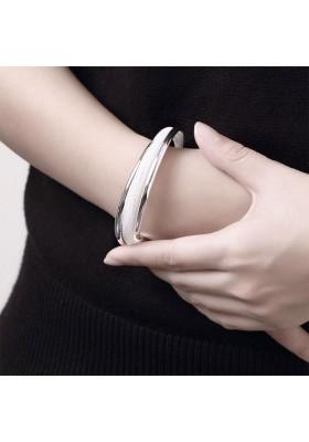 Bracelet Jonc Ouvert Argent Femme