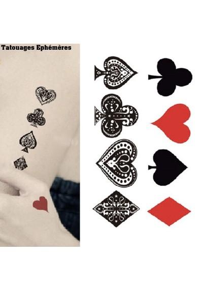 Tatouage Carte a jouer