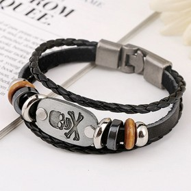 Bracelet Breloque Tête de Mort