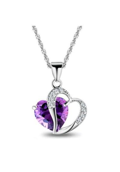 """Collier avec pendentif """"coeur de cristal"""""""