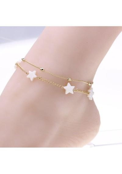 Chaîne de cheville avec étoile blanche