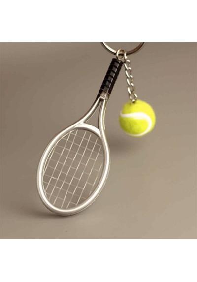 Porte-Clés Raquette de Tennis avec sa Balle