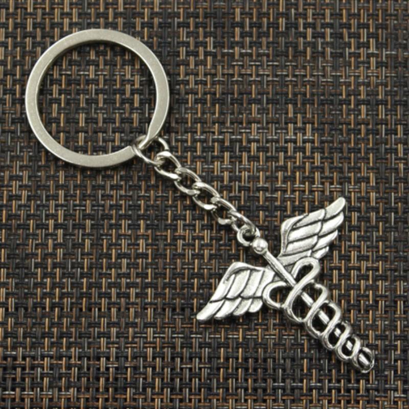 4f73181d21 Porte Clé Caducée d'Hermès en métal pas cher