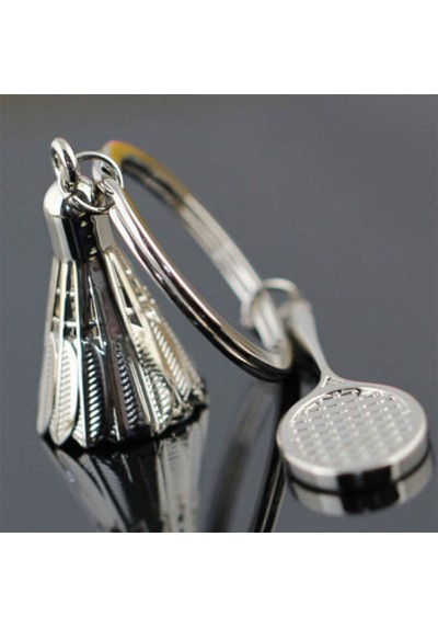 Porte-Clés Badminton - Raquette et Volant