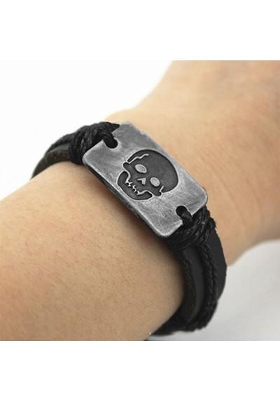 Bracelet Tête de Mort Homme