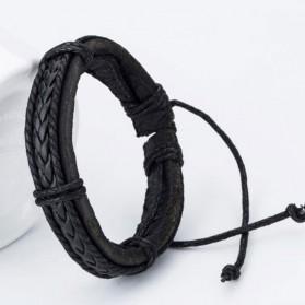 Bracelet Homme Cuir Tressé
