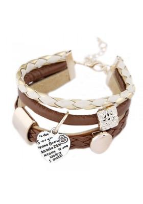 Bracelet en Cuir Marron Femme