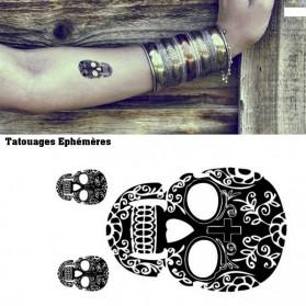 Tatouages éphémères Tête de mort mexicaine