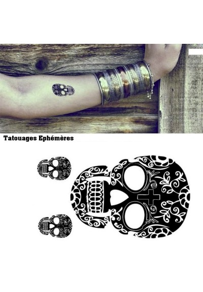 tatouages ph m res t te de mort mexicaine pas cher. Black Bedroom Furniture Sets. Home Design Ideas