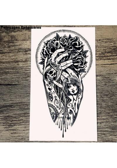 Tatouage Ephémère Bras Gothique