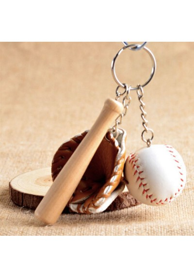 Porte-Clés Baseball - Batte, Gant et Balle