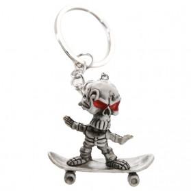 Porte-Clés Squelette sur son SkateBoard