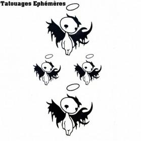 Tatouages éphémères Ange qui Pleure