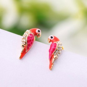 Boucles d'oreilles perroquet
