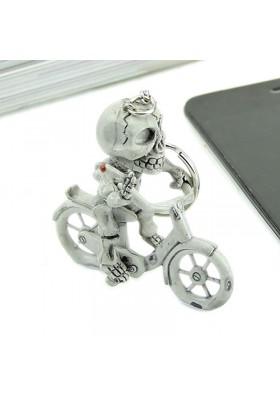 Porte Clés Squelette sur son vélo