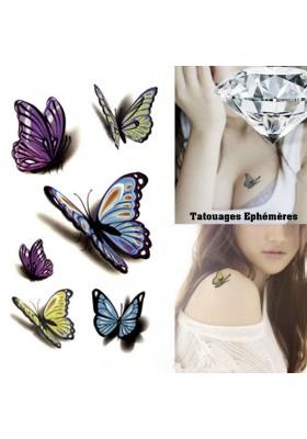Tatouages Ephémères Papillons