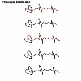 Tatouages Ephémères Coeur