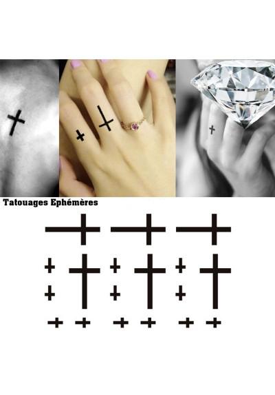 Tatouages éphémères Croix
